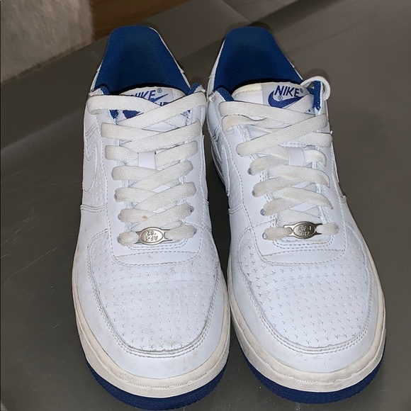 Nike Shoes White And Royal Blue Air Force 1 Poshmark